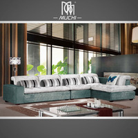 Trendy 4 Seat Soft Feather Down Cushion L Type Home Furniture