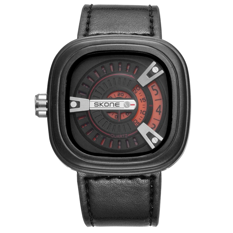Factory Price Stylish Man Leather Strap Watch
