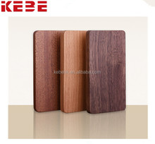 KEBE latest design trending 4000mah Pure wooden shell rechargeable portable power bank