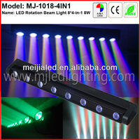 New 8 pcs RGBW 4in1 10W LED pixel linear beam music controlled light bar led beam bar