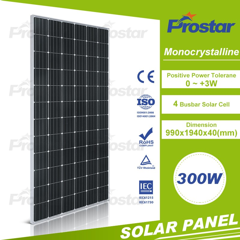 Shipping Soon Monocrystalline Sun Power Solar Panel 300W Wholesale Price