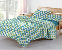 Stylish colorful 300T polyester/Cotton Adults 3pcs quilt, design for South America