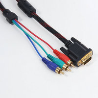 Hot! High quality VGA to TV Cable VGA to RCA Splitter Converter Cable