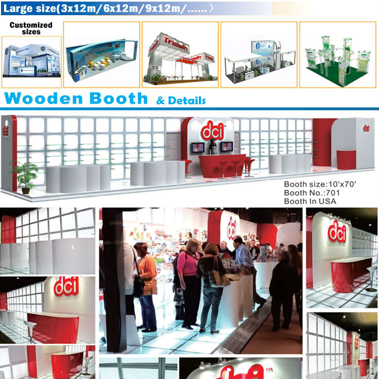 wooden selling goods display morden fashion design trade show stand