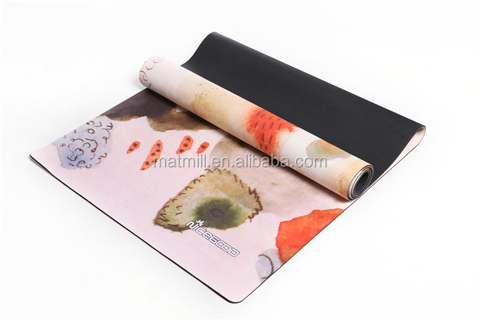 Healthy lifestyle anti-slip fitness printed suede yoga mat buy online