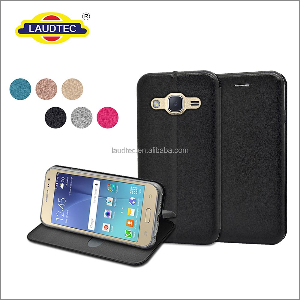 flip leather cover wallet case for Samsung galaxy J2