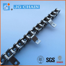 Britsh standard 10BSS stainless steel food application corrosion resistance strong and precise conveyor chain with a1 attachment