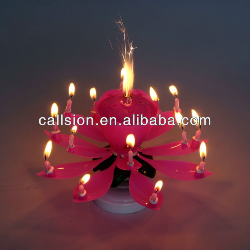Aglare rotating music birthday cake candle