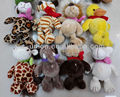 Yiwu promotion cheap sale small plush tiger elephant duck monkey giraffe dog