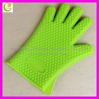 Dongguan wholesale food grade high temperature non-stick oven baking high heat resist silicon oven gloves with fingers