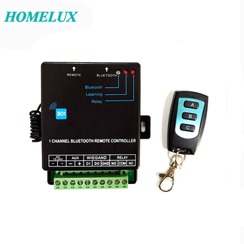1 channel bluetooth gate receiver  supports up to 1000 users ,relay and wiegand,used in lock,light,heater control