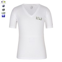 Bulk wholesale overseas new pattern v neck t shirts made in china