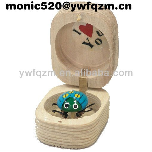wooden ladybug pencil sharpener