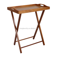 Yasen Houseware Wooden Tray Breakfast Table For Bed Tray,New 2016 Modern Furniture Design Wood Folding Tray Stand