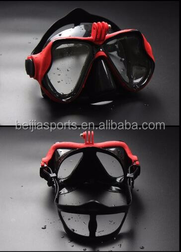 Tempered Dive Scuba Face Mask Camera Mount Swimming Mask For Gopro