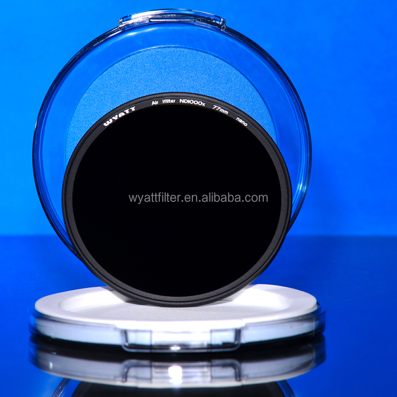 Neutral Density optical glass camera ND1000X3.0 77mm filter lens