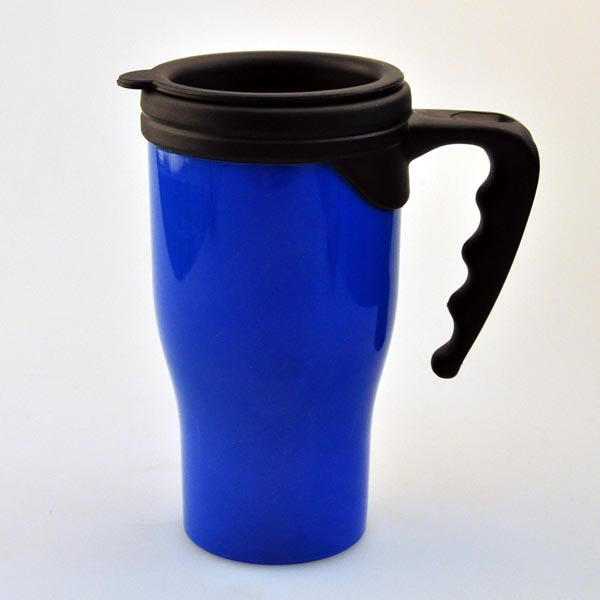 good shape food grade bulk plastic insulated coffee mug with handle and lid