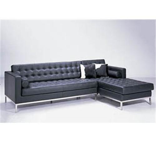 JH-C14-3 elegent and soft Florence Knoll Tweezits leather sofa 3 seater for living room