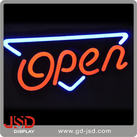 Guangdong Factory Metal Bracket Triangle Led Open Sign , Mini Led Sign Board