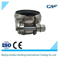 ISO/CE chinese supplier connection pipe stainless steel pipe repair clamp