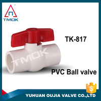DN15DN100 pvc single plastic union ball valve ppr ISO CE water medium temperature low best china supplier check valve in oujia