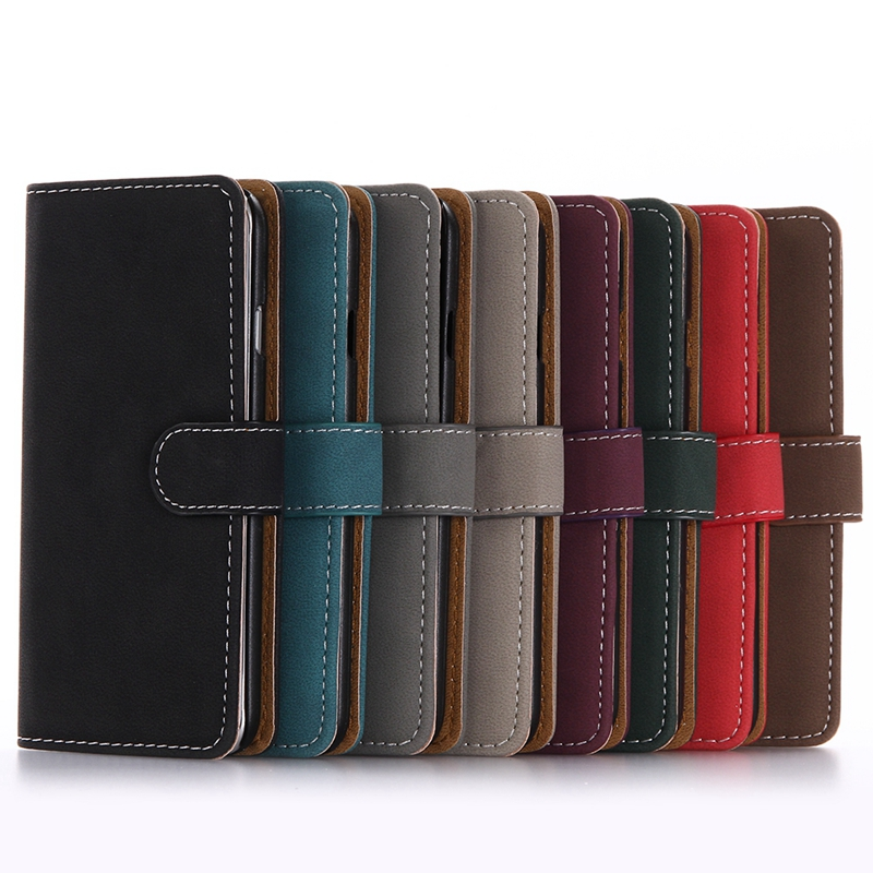 Latest 5G Mobile Phone Wallet Case Book Style Vintage Matte Leather Case for iphone 5 5G 5S SE
