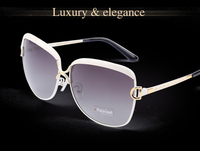 2015 latest Fashion Big Eyes Luxury Metal Eyewear Fashion For Women 8702