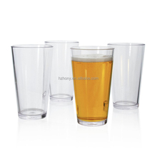 Premium Quality Plastic 16oz Beer Pint Glass Cups Set of 4