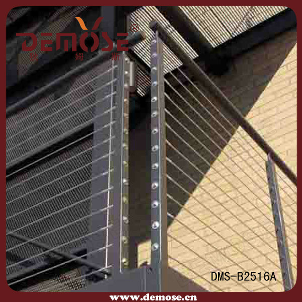 Modern design for balcony cable deck railing wire mesh