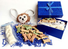 Glitter Blue Ribboned Gift Box of Biscuits/Baby Gift Box