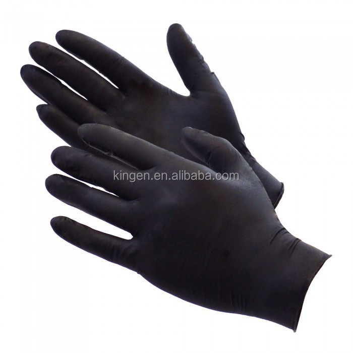 disposable 5 mil black nitrile gloves,nitrile work gloves