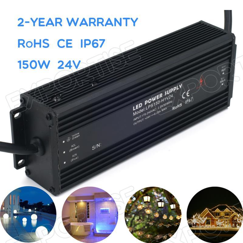 pool constant current led driver IP67 waterproof 150w 24v 6.35A AC DC
