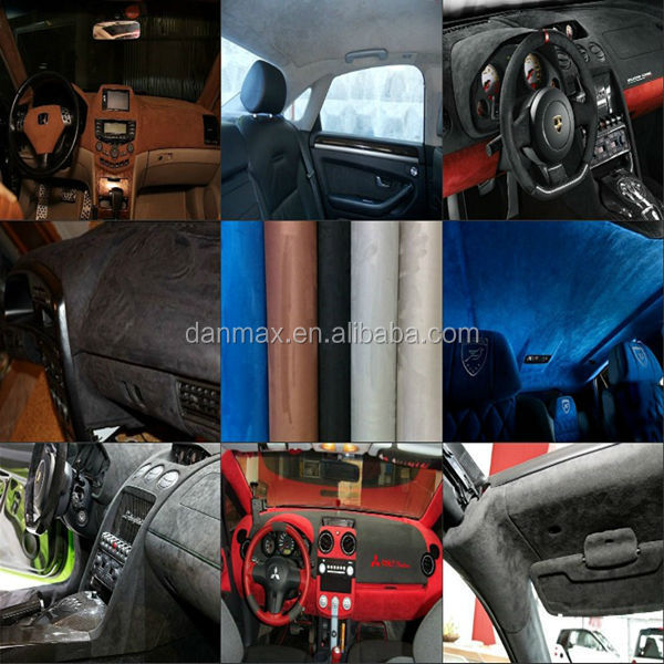 Removable self-adhesive Suede velvet fabric car interior vinyl wrap