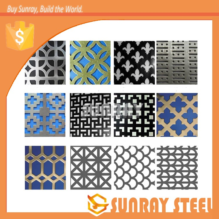 Decorative inox 304 201 316 punched perforated steel metal sheet