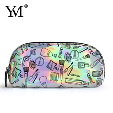 2017 ladies cheap personalized pvc fashion mini cosmetic makeup lady clutch bag women bags