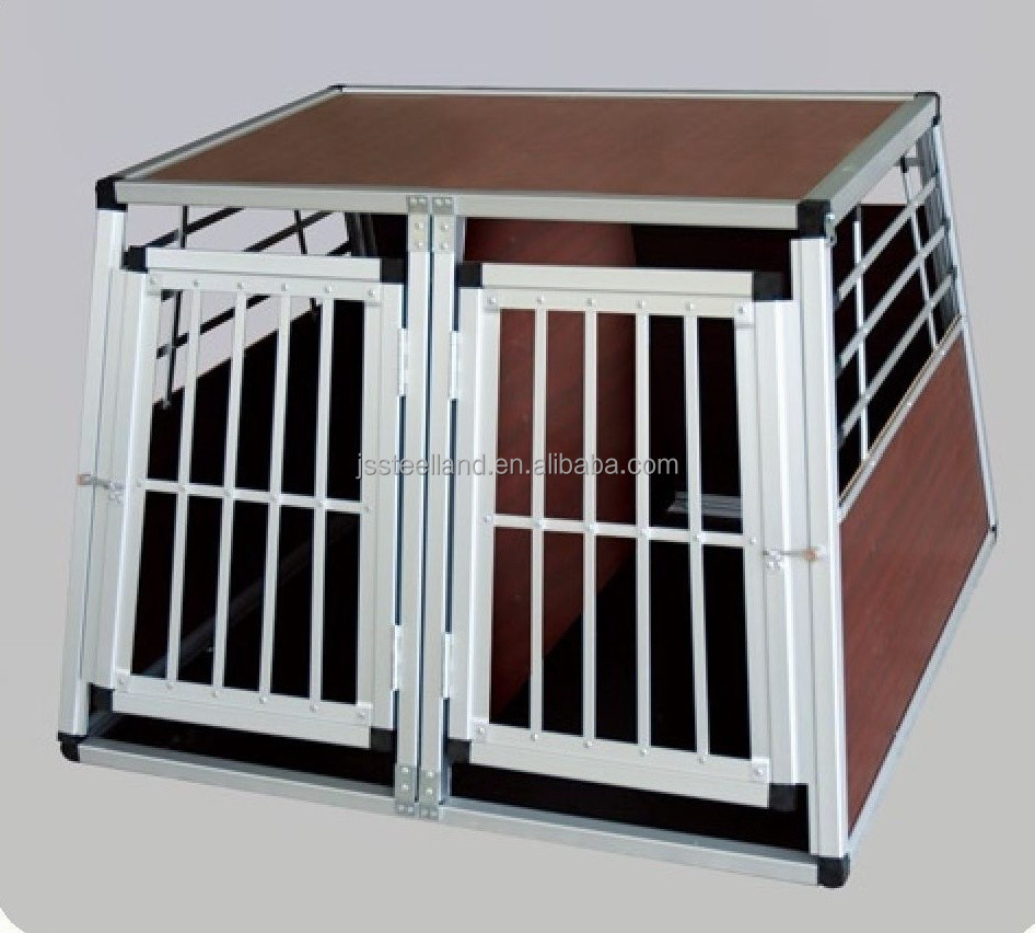 folding double doors with divider aluminum dog cage pet products