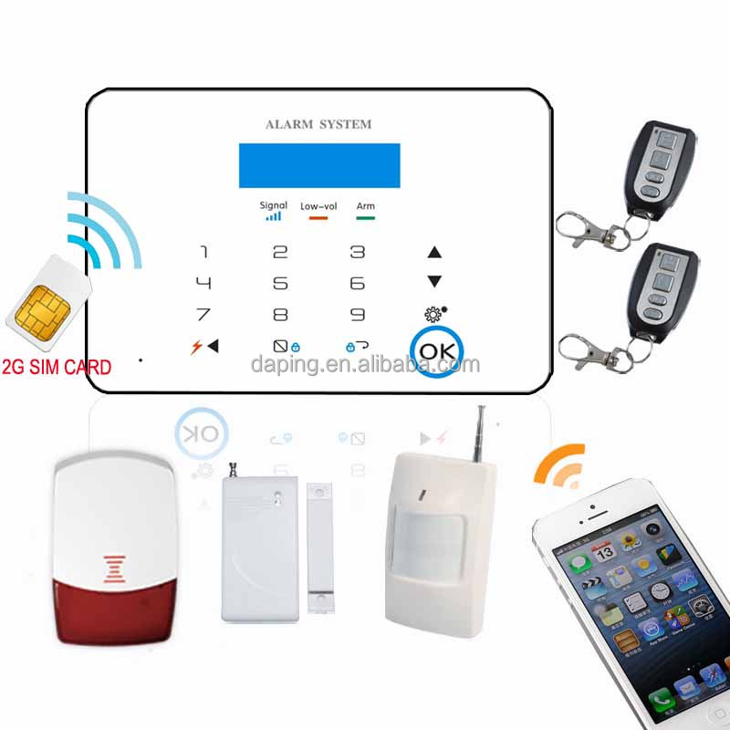 GSM Alarm System / Built-in SIM card, Double Frequency GSM Module / Wireless SOS Zone