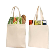 Natural color durable washable eco cotton canvas grocery shopping bag