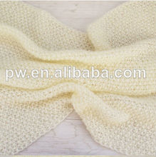 Hot sell Cream white mohair Newborn Photography Prop , knit baby wrap Lacy mohair wrap Baby Mini blanket Newborn baby wrap cute