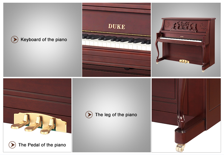 Musical instruments children learn piano keyboard wooden piano with high quality