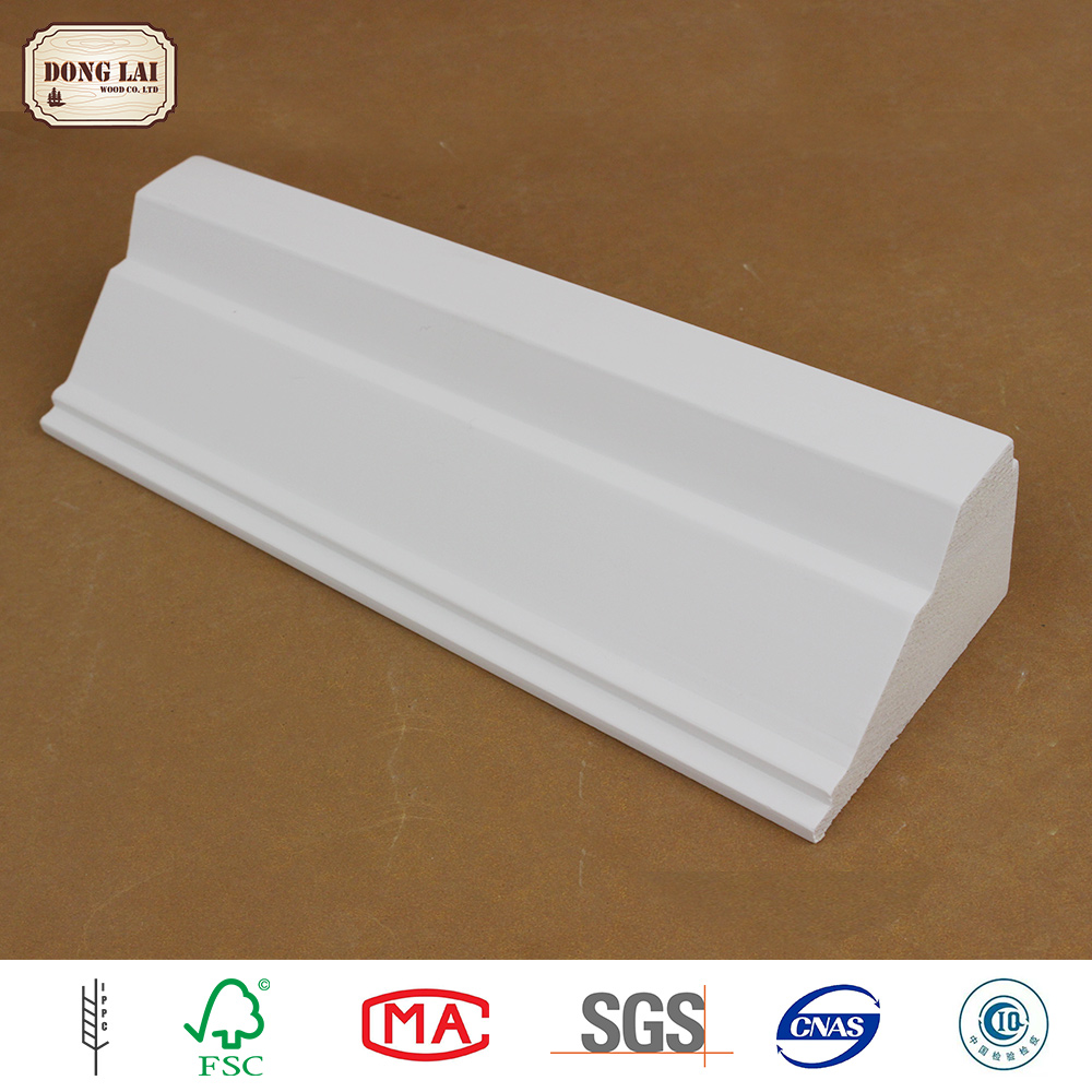 High Quality Custom design primed solid wood mould painting skirting boards profiles factory price