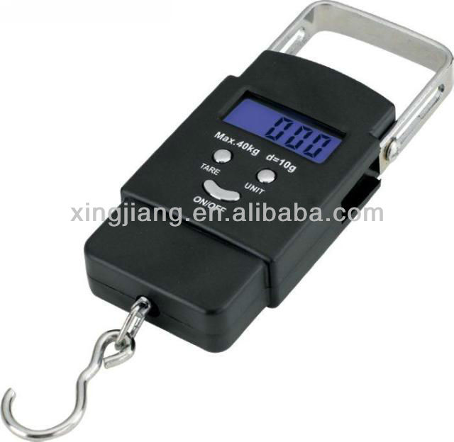 Portable electronic scale backlight