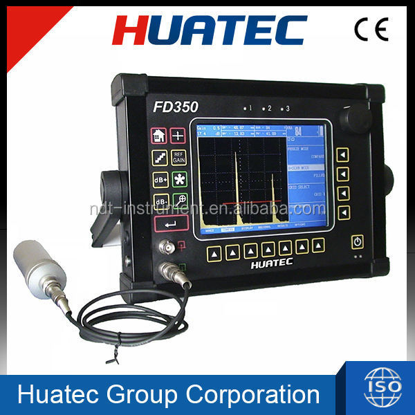 FD350 ultrasonic tester 0 - 10000 mm, digital ultrasonic Flaw Detector equipment.