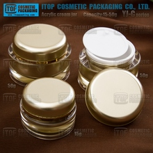 beauty container YJ-C 15g 30g 50g plastic danube jar acrylic paint gold cosmetic jars cream packaging gel containers