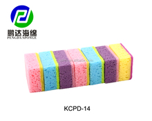 PENGDA 7PCS EXCELLENT non-abrasive scouring pad colorful coral sponge kitchen sponge