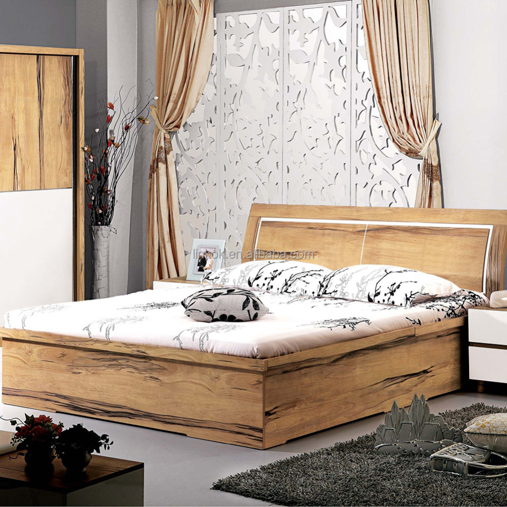 Solid Teak Wood Bedroom Furniture SetDressing MirrorPneumatic