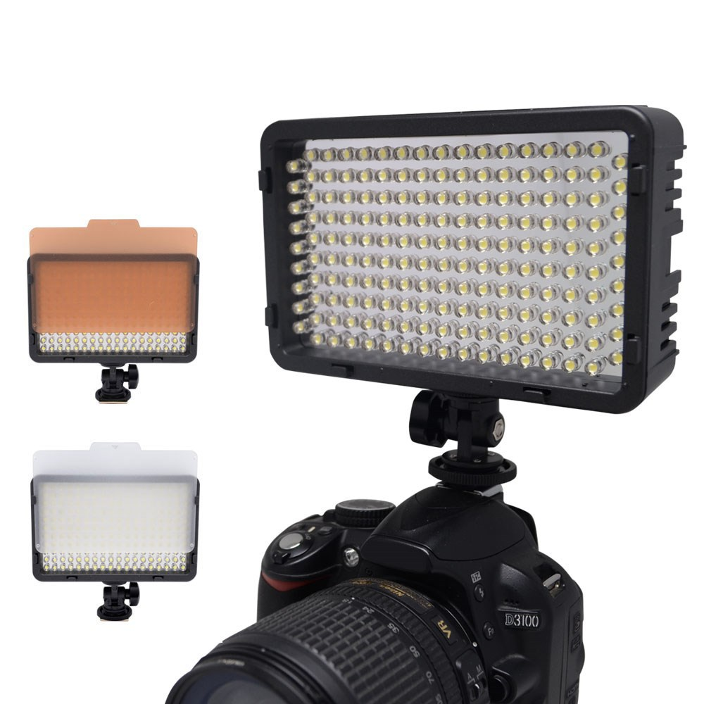 Mcoplus LED-168 3200K/5600K Video LED Camera Light for Canon/Nikon/Pentax/Panasonic/Sony Digital SLR Camera