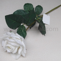 artificial royal blue rose flowers silk flower with soft hand touch real touch silk rose flower