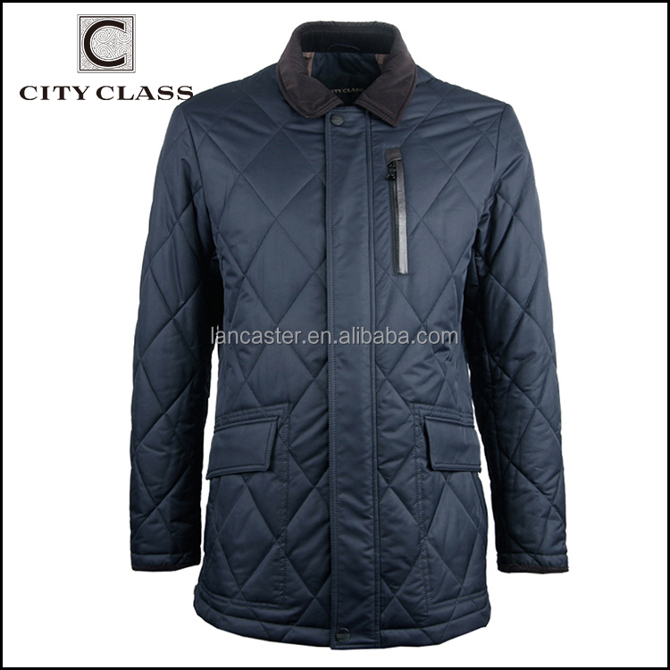 15017 Wholesale Custom Men's Zipper Polyester Jackets Latest Design Fashion Casual Quilted Jacket