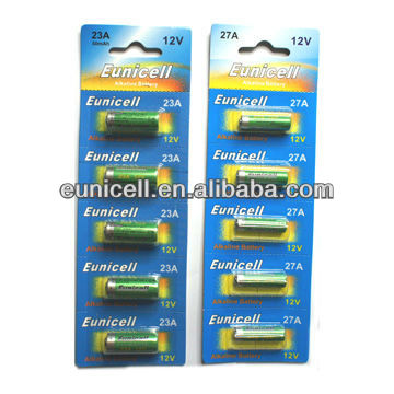 Super Alkaline dry batteries/12V 27A battery EUNICELL